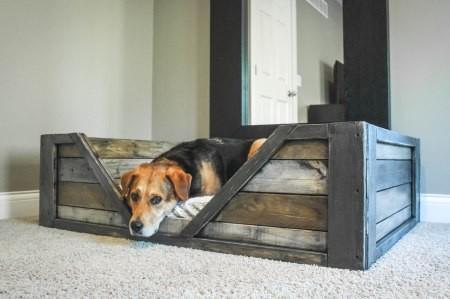pallet furniture dog bed
