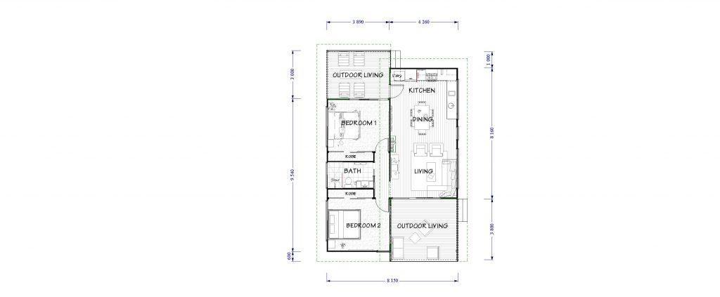 The Metro 70m2 Floor Plan